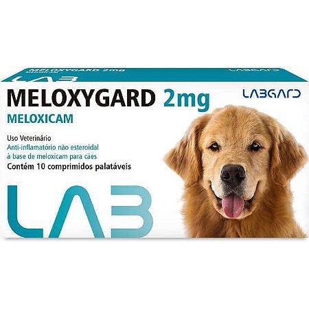 Anti-inflamatório Labgard Meloxygard 2MG para Cães de Raças Grandes 10 Comprimidos