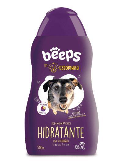Shampoo Beeps para Cães Pet Society Estopinha Hidratante 500ml
