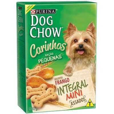 BISCOITOS DOG CHOW CÃES ADULTO RAÇA PEQUENAS MINI 500G