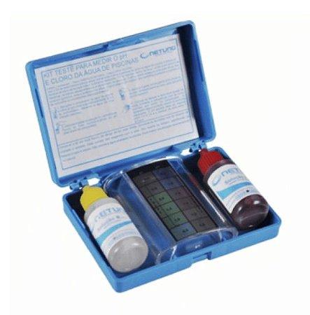 Kit para Teste de Ph E Cloro da Água da Piscina
