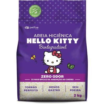AREIA HELLO KITTY BIO ROXA GROSSA 2KG