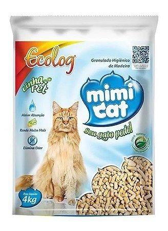 AREIA MIMI CAT 4KG - GRANULADO HIG.MADEIRA