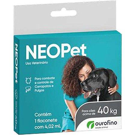 Antipulgas e Carrapatos Ourofino Neopet 4,02 mL para Cães acima de 40KG