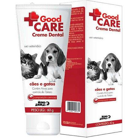 Creme Dental Mundo animal Good Care para Cães e Gatos 60G