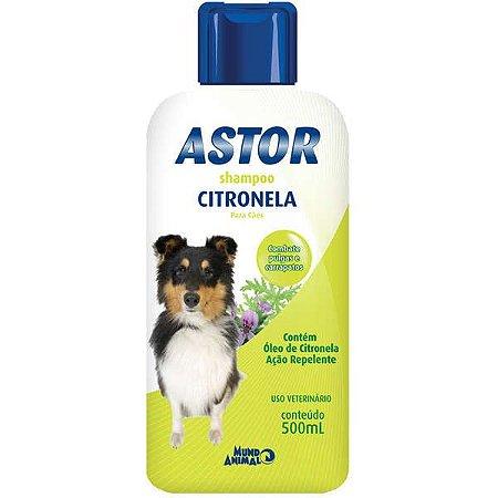 Shampoo Mundo Animal Astor Citronela para Cães 500ML
