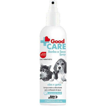Banho a Seco Spray Mundo Animal Good Care para Cães e Gatos 200ML