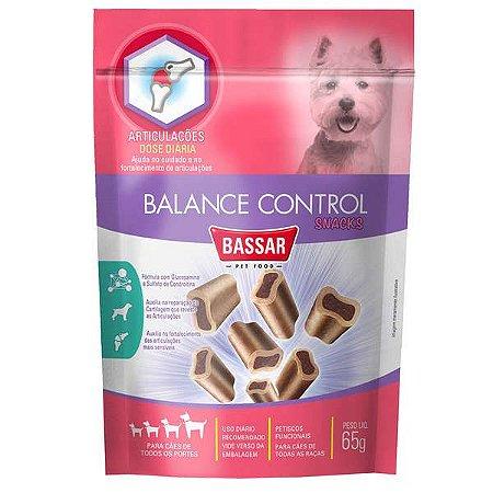 Petisco Funcional Bassar Pet Food Articulações Balance Control para Cães 65G