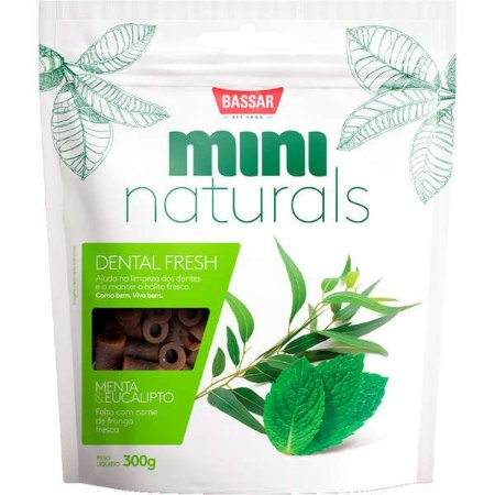 Snacks Bassar Mini Naturals Dental Fresh Menta & Eucalipto 300G