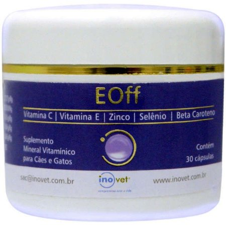 Suplemento Inovet Antioxidante EOff 30 Cápsulas