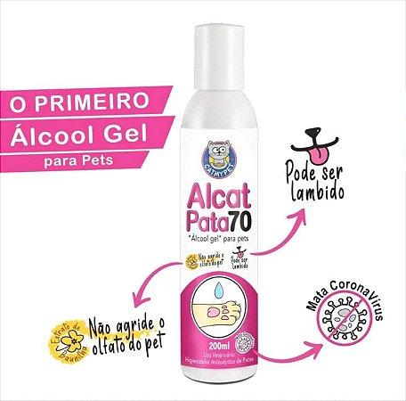 """""""Álcool Gel"""" Para Cães e Gatos - Alcat Pata 70 - Higienizador Antisséptico Para Patas 200ML"""