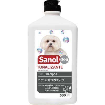 SHAMPOO  TONALIZANTE PARA PELOS CLAROS SANOL DOG 500ML