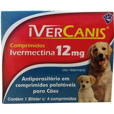 IVERCANIS 12MG BLISTER COM  4 COMPRIMIDOS