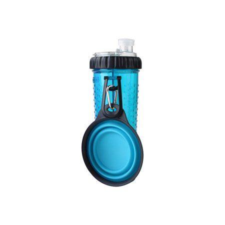 Copo Portátil Pet Snack-Duo Dexas Para Ração e Água - Azul 473ml