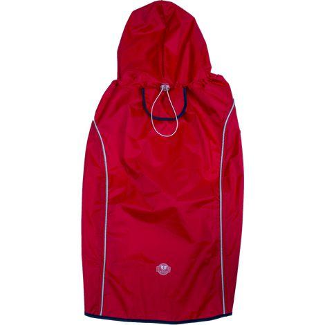 Capa de Chuva Vermelha/Azul GG
