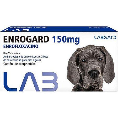 Antimicrobiano Labgard Enrogard 150 mg para Cães até 60 Kg C/10 COMP