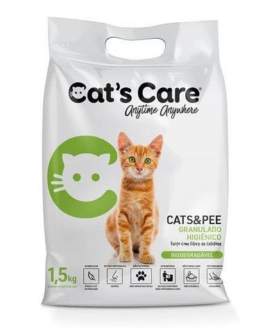 Areia Higiênica para Gatos Biodegradável Cat's Care 1,5KG