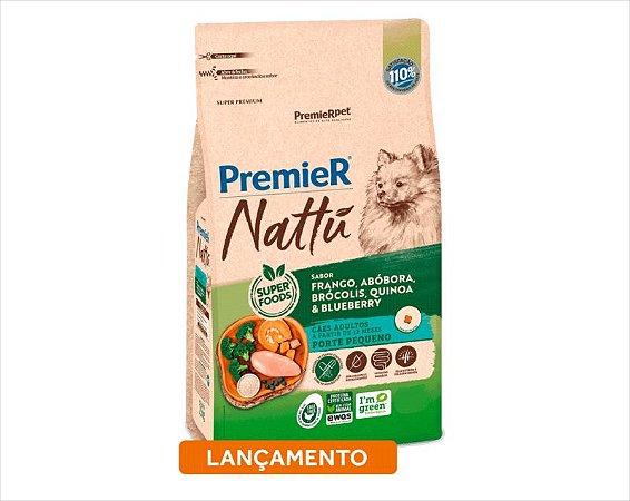 Premier Nattu para Cães Adultos de Raças Pequenas Sabor Abóbora 1KG