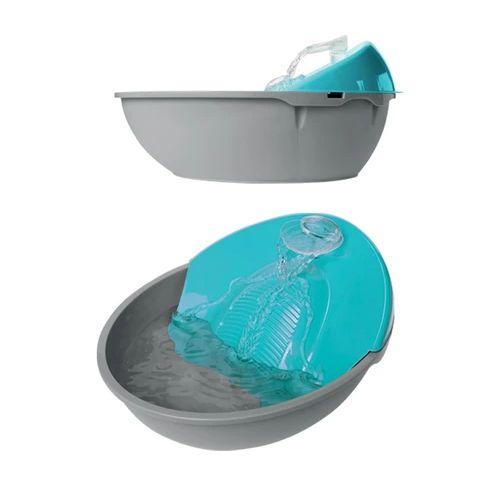 Bebedouro Fonte Para Cães e Gatos Petit Plast Pet - Azul Tiffany 110v