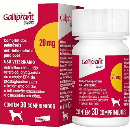 Anti-Inflamatório Galliprant 20MG Com 30 Comprimidos