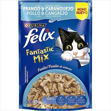 Felix Fantastic Mix Frango & Caranguejo para Gatos Adultos 85G