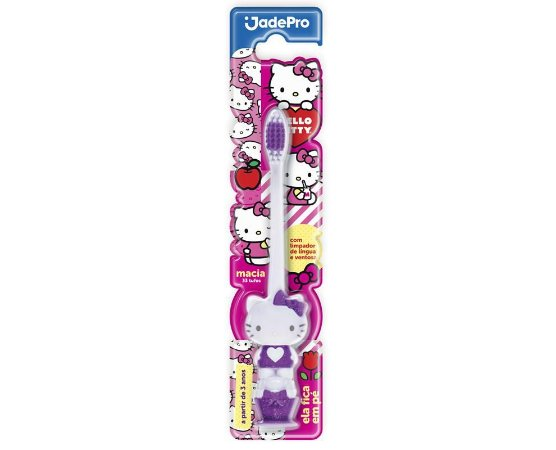 Escova Dental Hello Kitty 3D Ventosa Jade Pro