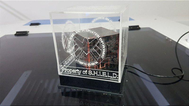 Luminária LED / Cubo Tesseract - Agentes da S.H.I.E.L.D.