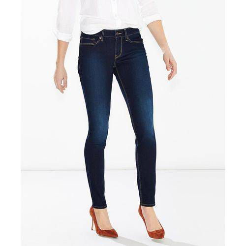 calça jeans levis feminina skinny azul escuro