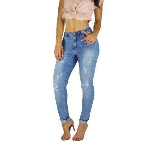 calça jeans feminina boyfriend destroyed