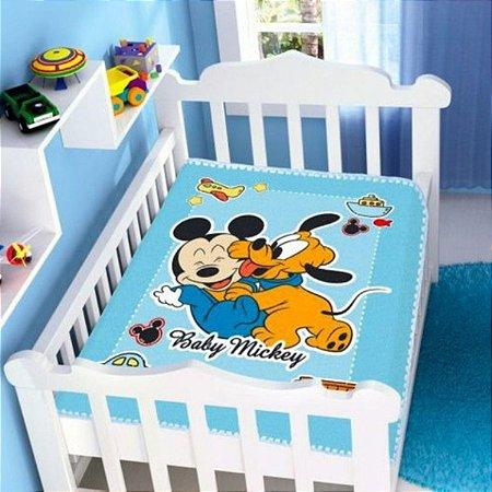 Cobertor infantil Jolitex Mickey divertido azul