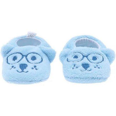 Pantufa infantil baby Pimpolho ursinho - azul