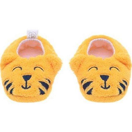 Pantufa infantil baby Pimpolho tigre - amarelo