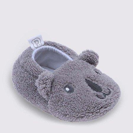 Pantufa infantil baby Pimpolho coala - cinza