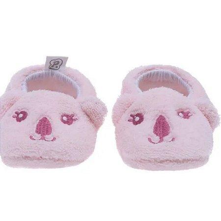 Pantufa infantil baby Pimpolho coala - rosa