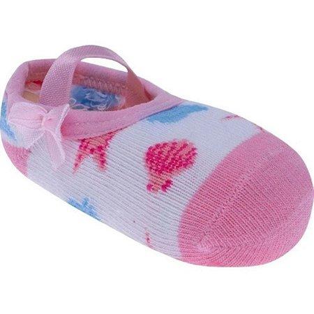 Meia Antiderrapante Pimpolho - rosa