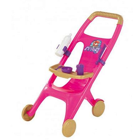 Carrinho baby papinha Magic Toys - rosa