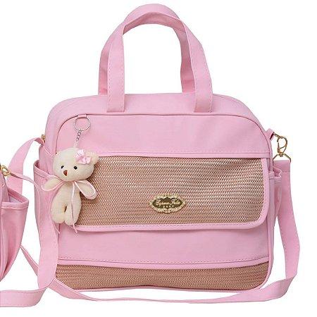 Bolsa maternidade Espera Feliz Baby - rosa