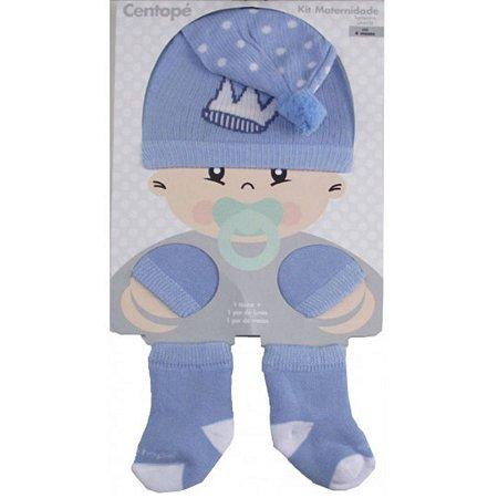 Kit Maternidade 3 pçs Centopé - Azul