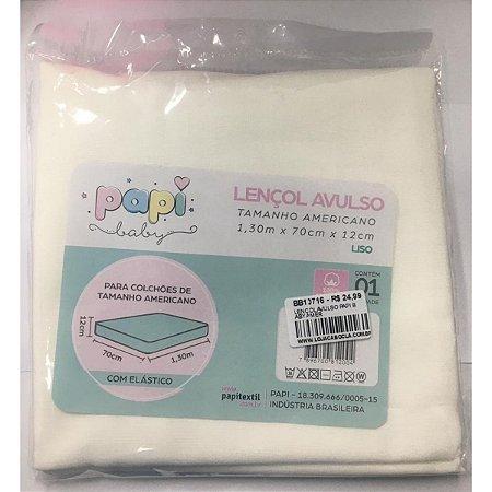 Lençol Avulso Papi Baby - Branco