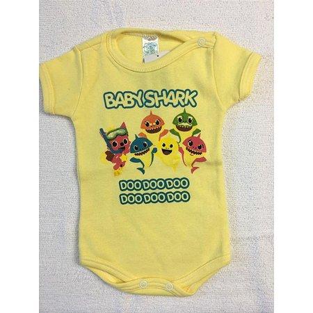 Body Linea Baby - Baby Shark amarelo