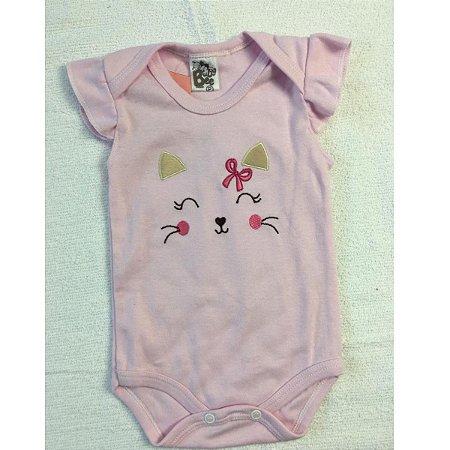 Body Bordado Baby Bee - rosa