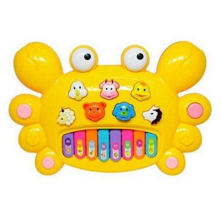 Tecladinho Divertido Siri DM Toys - Amarelo