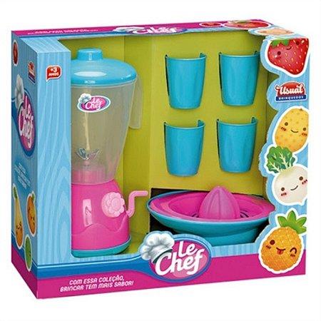 Liquidificador Infantil Le Chef Rosa Usual Brinquedos