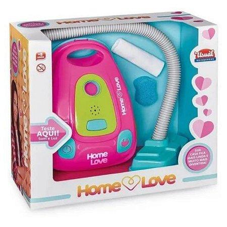 Aspirador de Pó Home Love Ususal Brinquedos - Rosa