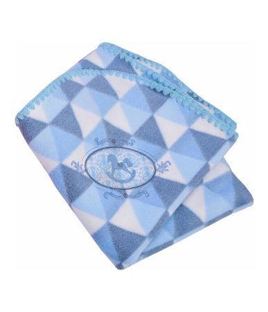 Cobertor infantil Minasrey bordado - azul