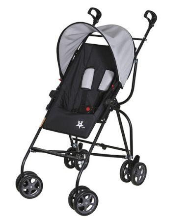 Carrinho de bebê Galzerano Capri - preto cinza