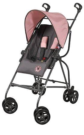 Carrinho de bebê Galzerano Capri - rosa grafite