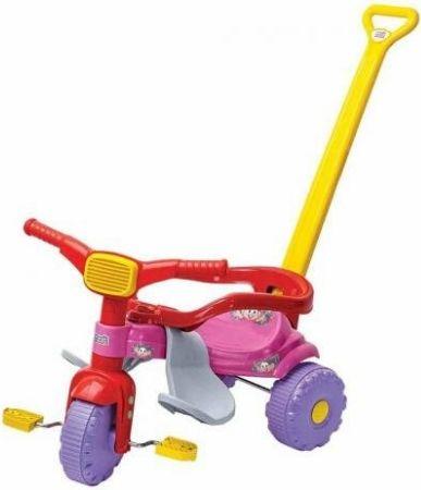 Triciclo Magic Toys tico tico Mônica - rosa