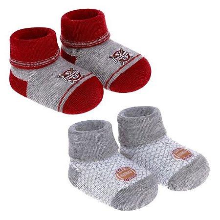Kit meias Pimpolho 2 pares masculino recém nascido - esportes
