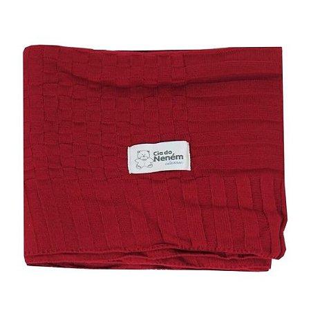 Manta Minasrey tricot Classic - vermelha
