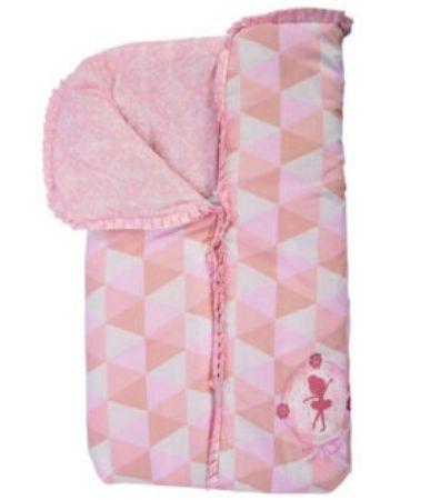 Porta bebê Minasrey com babado - rosa